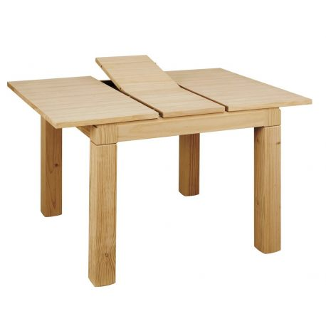 Mesa Tokio fija tapa 4 cm. madera 90x90 cm.