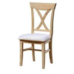 Cross chair seat pretapizado