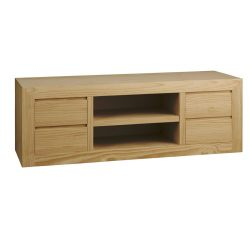 T.V. Athens table 4 drawers 2 holes