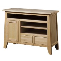 Table TV 1 door 2 drawers 3 holes Rustika