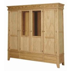 Wardrobe Rustika 4 p. 3 c. and interior chest of drawers
