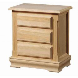Bedside table 3 drawers socket