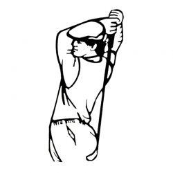 Escultura Golfista 1