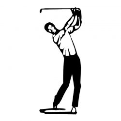 Skulptur Golfspieler