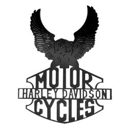 Sculpture de Harley Davidson