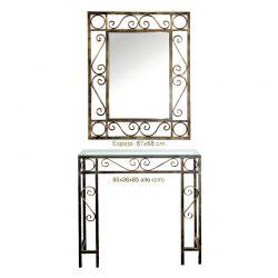 Lumaca console e specchio