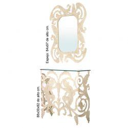 Console e duca di specchio