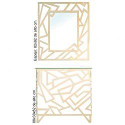 Consola y espejo Picaso