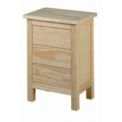 Bedside table Lorca 3 drawers narrow