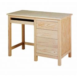 Study table Lorca 1 drawer unit with tray