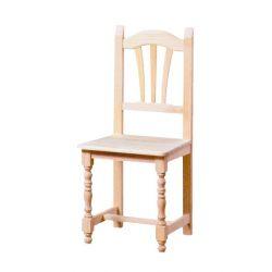En tournant la paume chaise assise bois