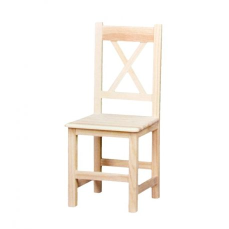 Straight cross chair seat wood