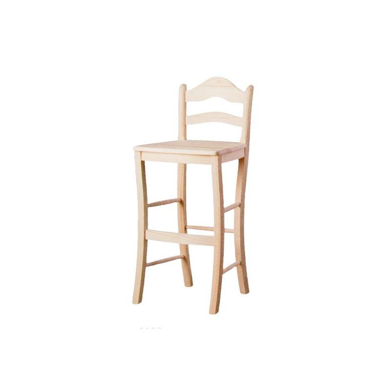 Taburete alto con respaldo asiento madera - Taburete con respaldo ...