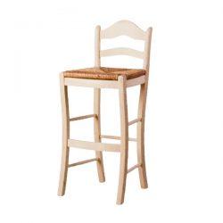 Sgabello alto con schienale sedile anea