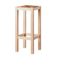 Smooth high stool seat anea pine