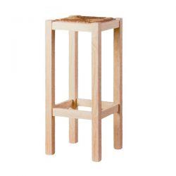 Smooth high stool seat anea pine