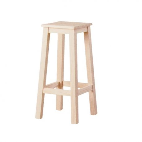 legno seduta sgabello alto liscio