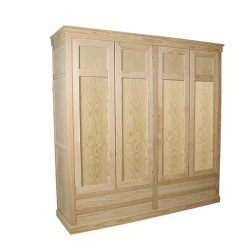 Wardrobe Inka 4 doors 4 drawers smooth smooth