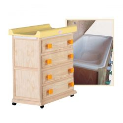 Comfortable bath 4 drawers with castors